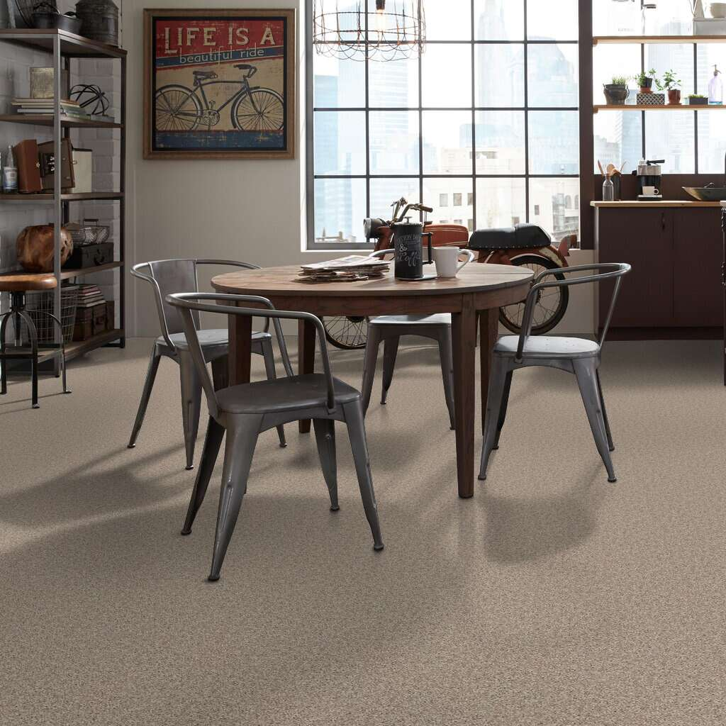 Venture Solid Carpet - Soft Taupe Gallery Image 3